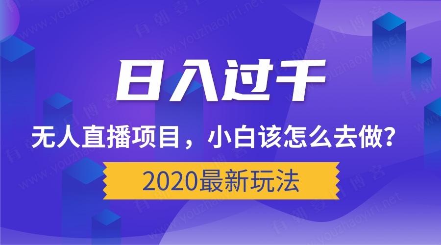 2020最新玩法_日入过千的无人直播项目,小白该怎么去做?[视频教程]-有朝壹日