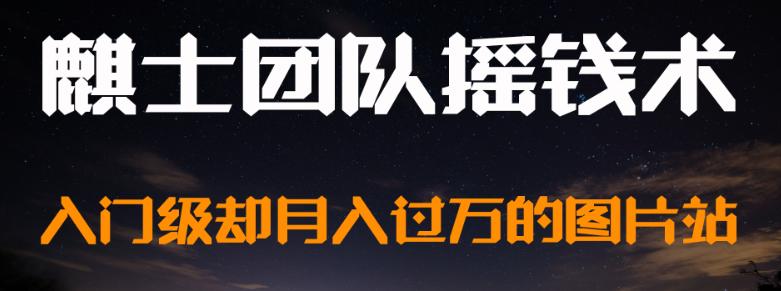 麒士团队摇钱术14:入门级却月入过万的图片站-有朝壹日
